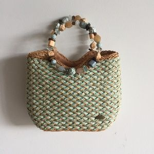 Capelli Straworld Straw Ring Handle Handbag